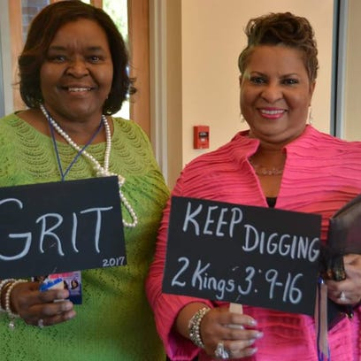 Women gain inspiration at women's conference.