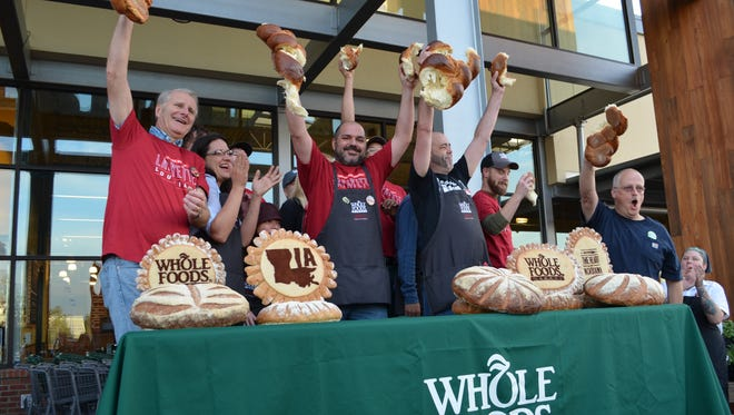 Whole Foods MArket opened Wednesday morning with a bread breaking ceremony.