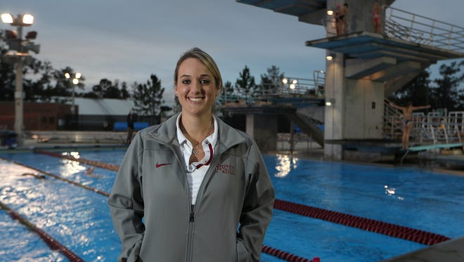 Tomahawk Diving Club has a new coach: Chelsea Ale who started with the team in November at the Morcom Aquatics Center on Wednesday, Dec. 6, 2017.