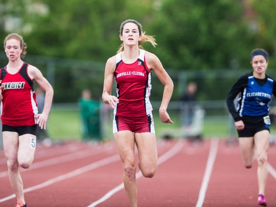 Annville-Cleona's Reagan Hess wins her heat of the