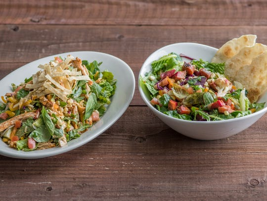 Summer-season salads at Sharky's Woodfired Mexican