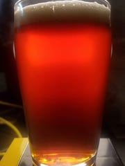 One of Hackensack Brewing Company's beers, a weizenbock.