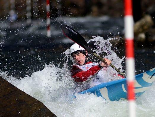 Henry Bergen Paddles Down The Nantahala River Saturday