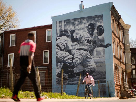 As mlb celebrates jackie robinson dearth of black for America today mural