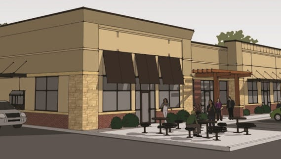 A new strip mall at 2300 S. Minnesota Ave.