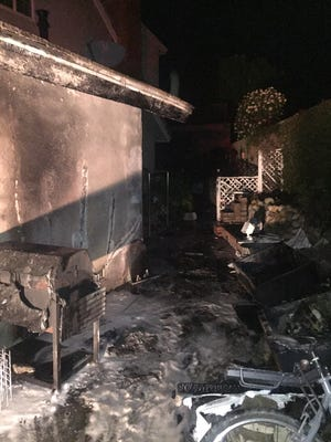 Ventura firefighters responded to a shed and garage fire early Friday.