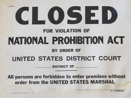 Archivists recently turned up this Prohibition-era signage, believed to be an unused placard that a local packrat may have obtained from city police. The Metro Archives is reopening at a new downtown location at the Downtown Library on June 30 and has 5 million documents and lots of other items you might not have ever thought about. Wednesday June 25, 2014, in Nashville, TN.