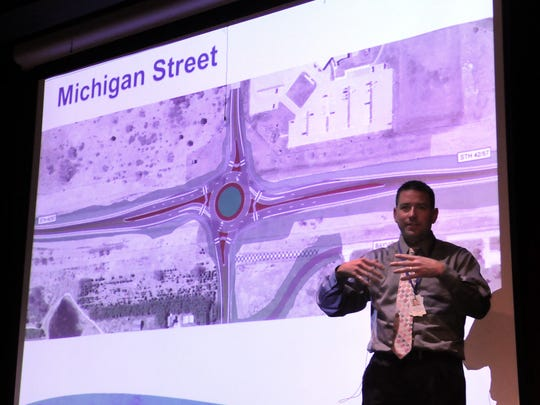 Jeremy Ashauer of the DOT is project manager for the Door County Wisconsin 42/57 project that calls for roundabouts.