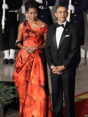 Michelle Obama in McQueen