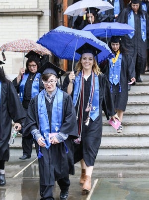 The 2017 commencement ceremony at College of Saint Elizabeth in Morris Township on May 13, 2017. Alexandra Pais/ The Daily Record