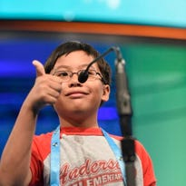 Ramon Padua Jr.  correctly spelled two words on stage during the preliminary rounds of the Scripps National Spelling Bee on May 25.