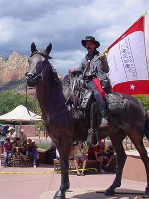 The National Day of the Cowboy celebration in Sedona. No id on the man.