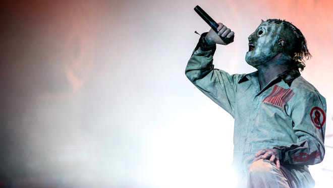 Slipknot lead singer Corey Taylor (not associated with the charges) performing with the band at the Download Festival in June 2013.