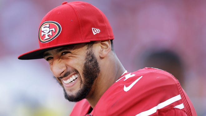 San Francisco 49ers quarterback Colin Kaepernick has received a lot of pushback on his decision not to stand during the national anthem until the country makes more progress on injustice.