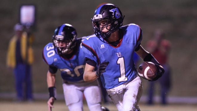 Union County's Trey Hutchison is the top returning receiver for the Braves.