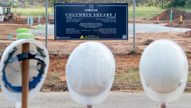 During the groundbreaking ceremony for Columbus Square in Montgomery, Ala. on Friday September 16, 2016. Columbus Square is located on the site of the former Trenholm Court.