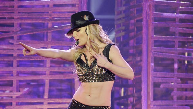 Britney Spears in concert on  Dec. 26, 2013.
