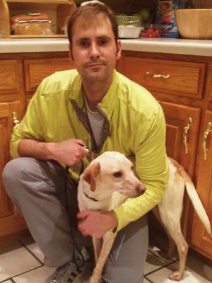Jon Sandberg and his dog, Chester