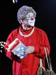 Grandma (Barry Lubin), clown prince of the Big Apple