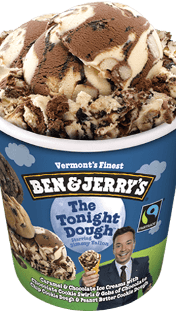 Tonight Dough is a blend of chocolate and vanilla with globs of cookie dough