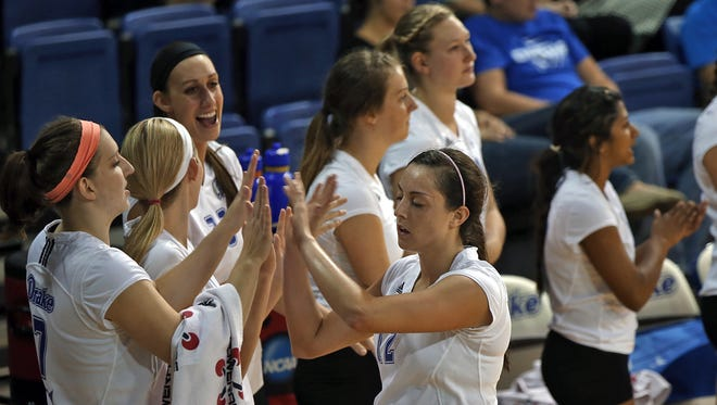 Drake's Amanda Platte, right, and her Bulldog teammates will try to continue this year's strong start.