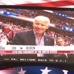 Biden gets standing ovation at Wizards game