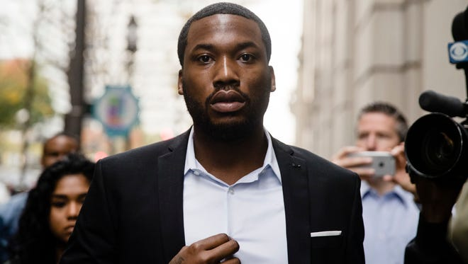 Rapper Meek Mill in November 2017 at courthouse in Philadelphia.
