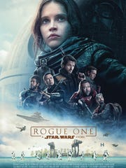 "The movie poster for ""Rogue One: A Star Wars Story."""