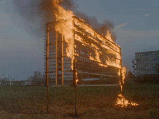 """The first major U.S. exhibition from Swiss-German duo Taiyo Onorato and Nico Krebs, """"One-Eyed Thief"""" opens at the Contemporary Arts Center Sept. 12. This is an still image from """"Fire,"""" 2014, a 6:45-minute, 16mm film. The show is curated by FotoFocus Artistic Director and Curator Kevin Moore."""
