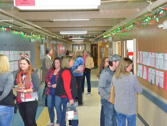 Guests at the annual Craft Fair and Silent Auction