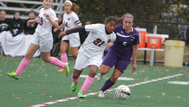 10th-seeded New Rochelle defeated 7th-seeded Ossining 2-0 in a Class AA first-round game at Ossining High School on Saturday, October 24th, 2015.