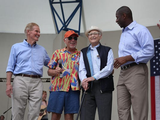 Jimmy Buffett Performs At Get Out The Vote Rally With Democrats Gillum And Nelson