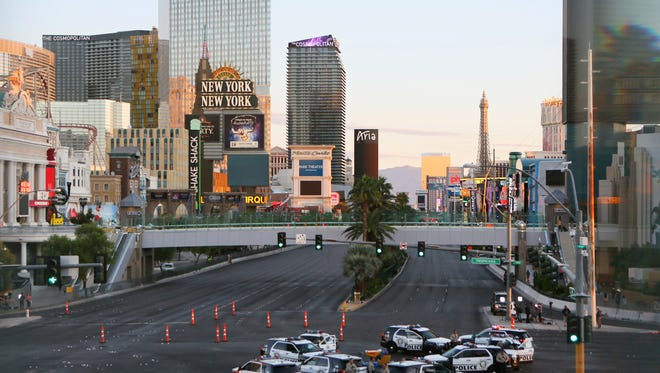 The Las Vegas strip on Oct. 2, 2017.