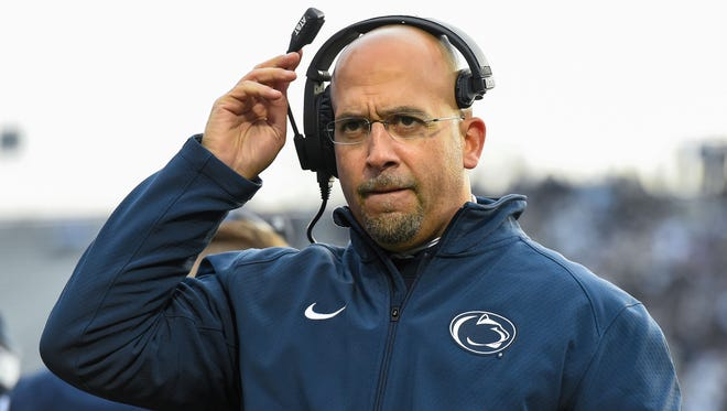 """James Franklin said he is confident in fixing Penn State's problems, including the run game. """"This is the style that we've been playing. This is how we've been doing it. We've had negative-yardage plays for two years. Can we get better in this area? Yes. (But) We've had one of the most explosive offenses in the country, again."""""""