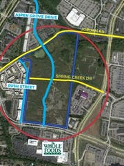 A rough sketch of the Northside at McEwen site