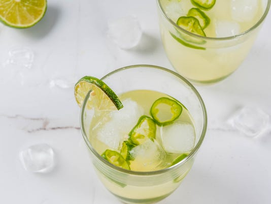 Fresh Lime and Jalapeno Margarita