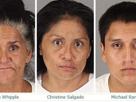 These people were arrested under suspicion of felony
