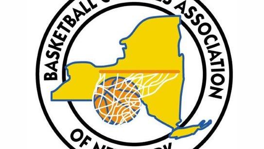 Basketball Coaches Association of New York logo.
