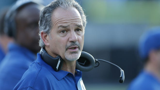 Chuck Pagano, Head Coach of the Colts, Colts at Jacksonville, EverBank Field, Jacksonville, Fla., Sunday, Dec. 13, 2015. Indianapolis lost 16-51.