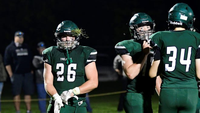 Cedarville's Grant Fountain (26) was named to the Associated Press 8-Player Division All-State team at linebacker.