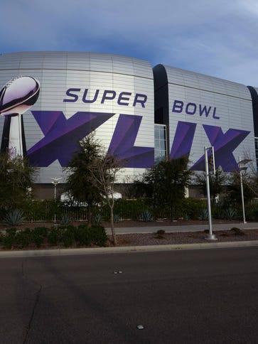 General view of University of Phoenix Stadium in advance
