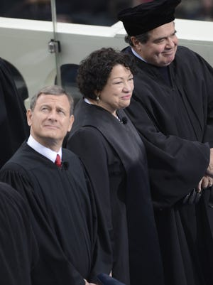 Chief Justice John Roberts may be the boss, but Justices Antonin Scalia and Sonia Sotomayor are more popular on the speaking circuit.