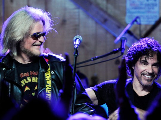 Daryl Hall and John Oates christen Daryl's House in Pawling on Oct. 31, 2014.