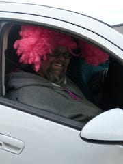 A passenger got into the spirit of Think Pink Day.