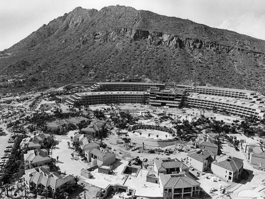 An aerial view looking northwest of the Phoenician