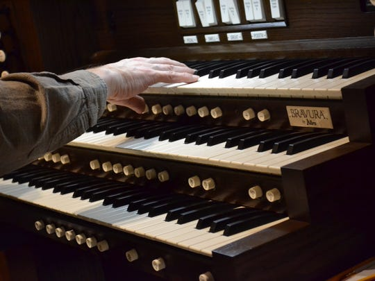 Immaculate Conception Church's new Bravura L-324eDK Allen digital organ can create a wide variety of sounds.