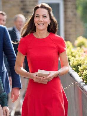 Catherine, Duchess of Cambridge arrives to visit a