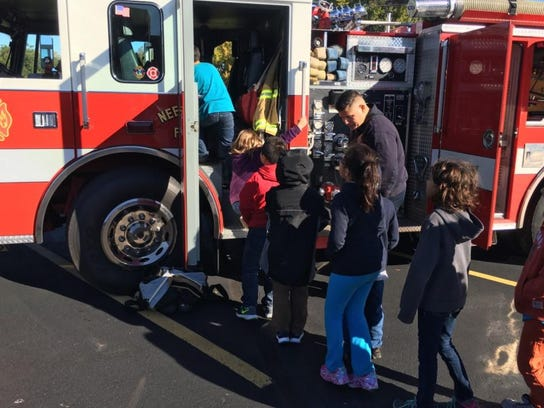 As part of Fire Prevention Month, the first- and second-grade