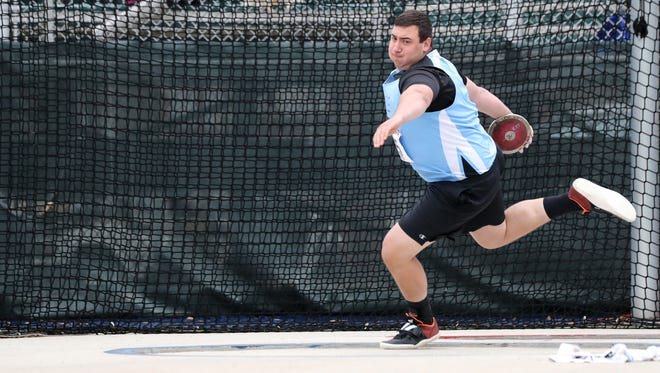 Parsippany Hills senior Justin Gurth competed in the Championship of America discus at Penn Relays Friday.