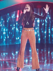 MTSU student Kristi Hoopes performed Trisha Yearwood's 'Heaven, Heartache and the Power of Love' during her blind audition for 'The Voice'.